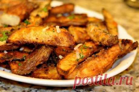 Хрустящий картофель в специях на гарнир, рецепт — Вкусо.ру