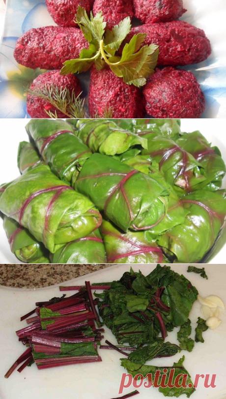 Листья свеклы: рецепты со свекольной ботвой