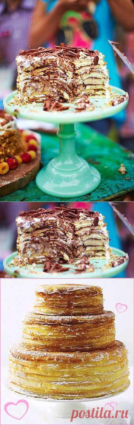 Как приготовить блинный торт | Рецепты Джейми Оливера