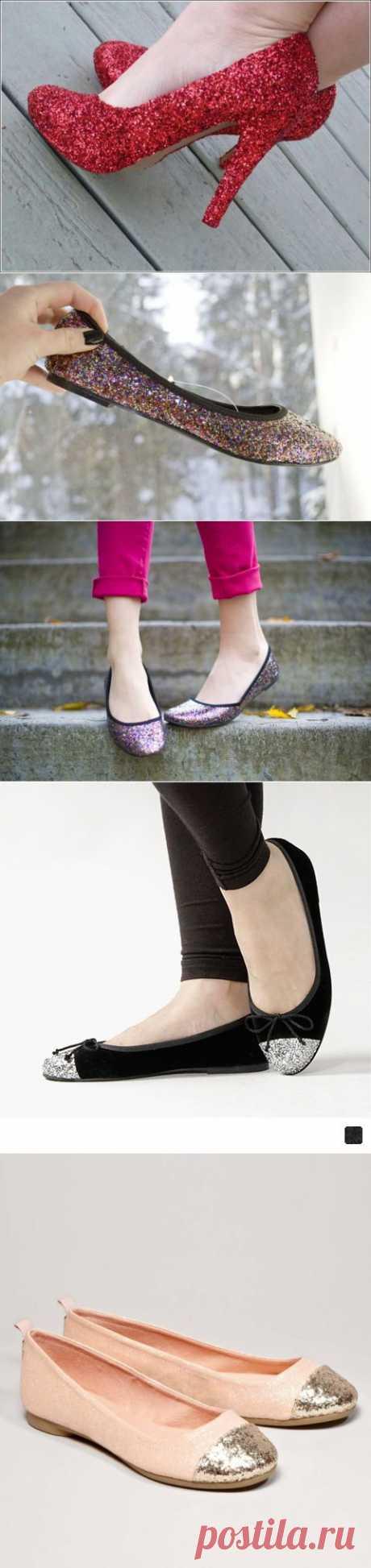 (+1) тема - Как реанимировать старые туфли: праздничный вариант | Полезные советы