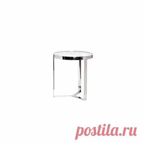 Стол журнальный, цвет хром d.50*55 см. Красивые дизайнерские столы купить в Москве - необычные столы дизайнерские, цены в каталоге интернет-магазина ForestGum