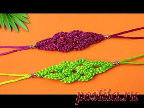 Cómo hacer pulsera de hilo fácil y rápida # Paso a Paso | DIY Macrame - Paracord Friendship Bracelet