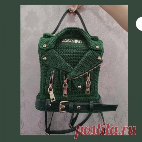 2 супер идеи для оформления вязаной сумки или рюкзака   Tvorlen   Яндекс Дзен