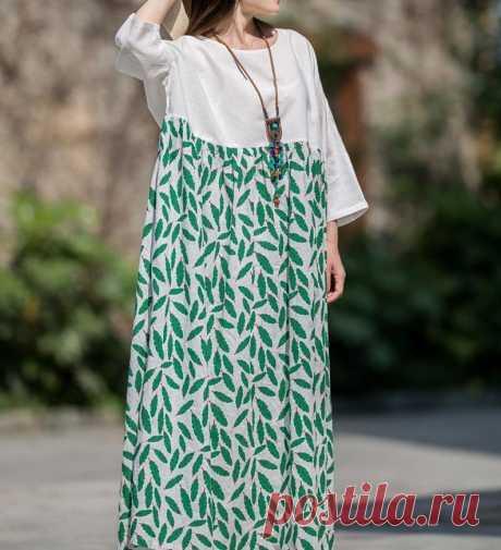 Women's summer Plus size long dress Loose Fitting long | Etsy
