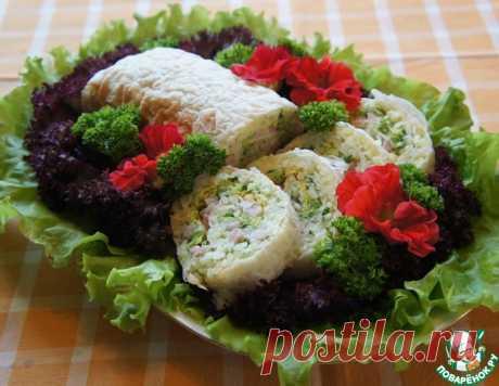 Закусочный рулет из риса с ветчиной – кулинарный рецепт
