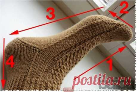 Носки на двух спицах  вяжем вместе со схемами