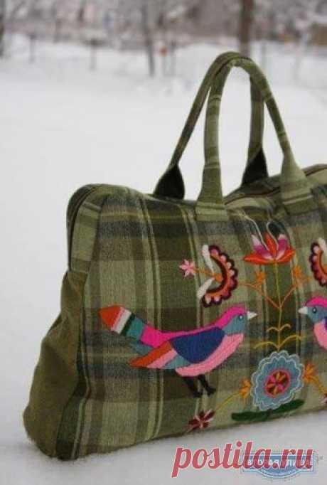 Олена Тимків - Торбинка з пташками 👜🐦🐦