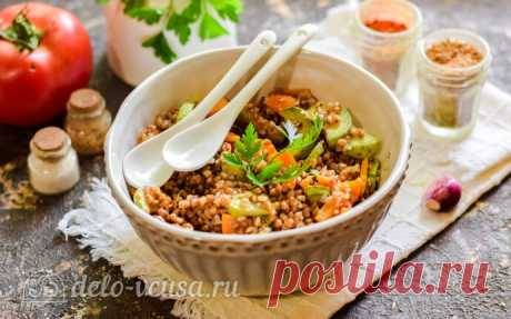 Гречневая каша с кабачками и морковью пошаговый рецепт с фото