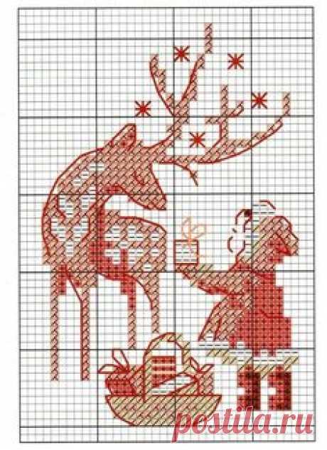 Рукодельница. Копилочка со схемами) — Скоро Новый год!!! (новогодние схемки) | OK.RU