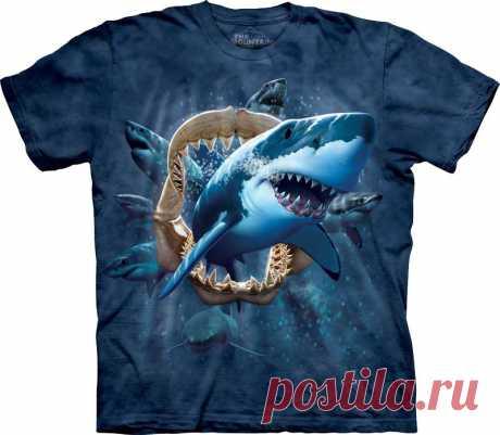 АРТ № 102287 Футболка The Mountain - Shark Attack Бесшовная футболка -варенка 100% хлопок Размеры Детские S, M, L,XL  +  Взрослые  S, M, L,XL, XXL, XXXL Рисунок нанесен красками на водной основе. Не выгорает, не тянется