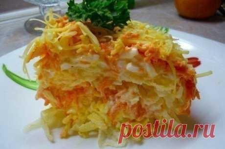Диетический слоеный салат: можно даже на ночь! - Счастливые заметки