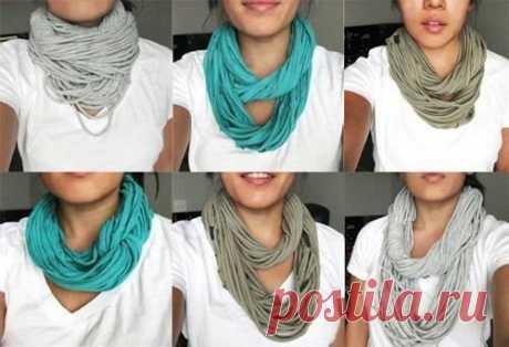 5 очаровательных шарфов на осень своими руками