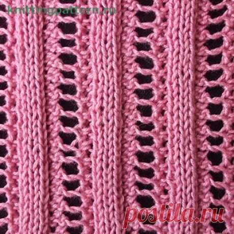 Elastic band patterns for knitting by spokes the Openwork elastic band 1