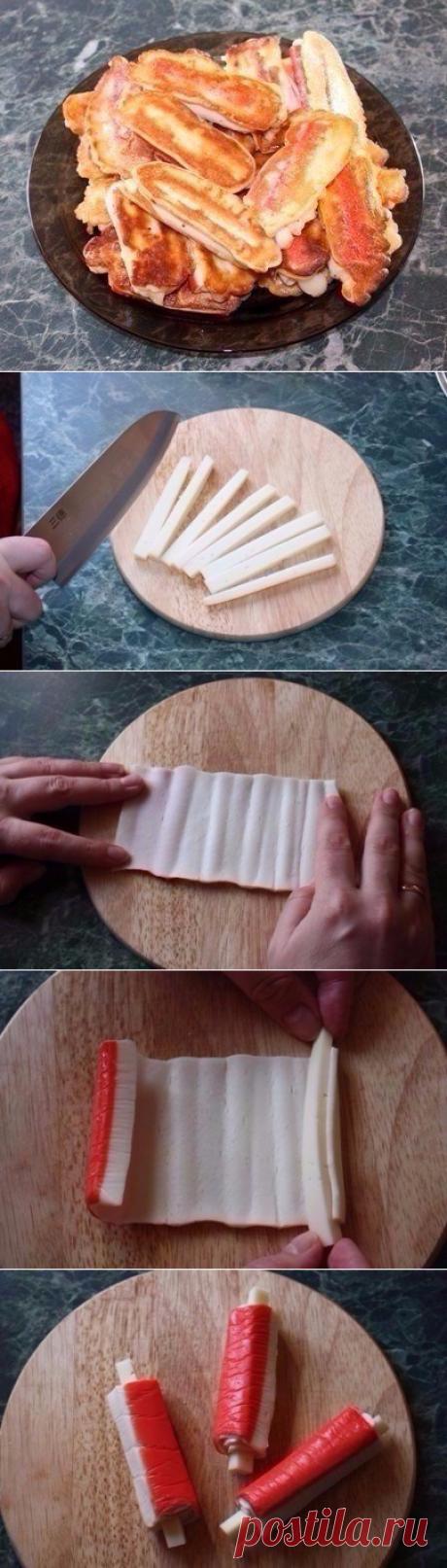 Крабовые палочки в кляре с сыром