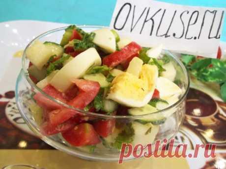 ПОХУДЕЙКИНЫ РЕЦЕПТЫ. Овощной салат с дыней и яйцами