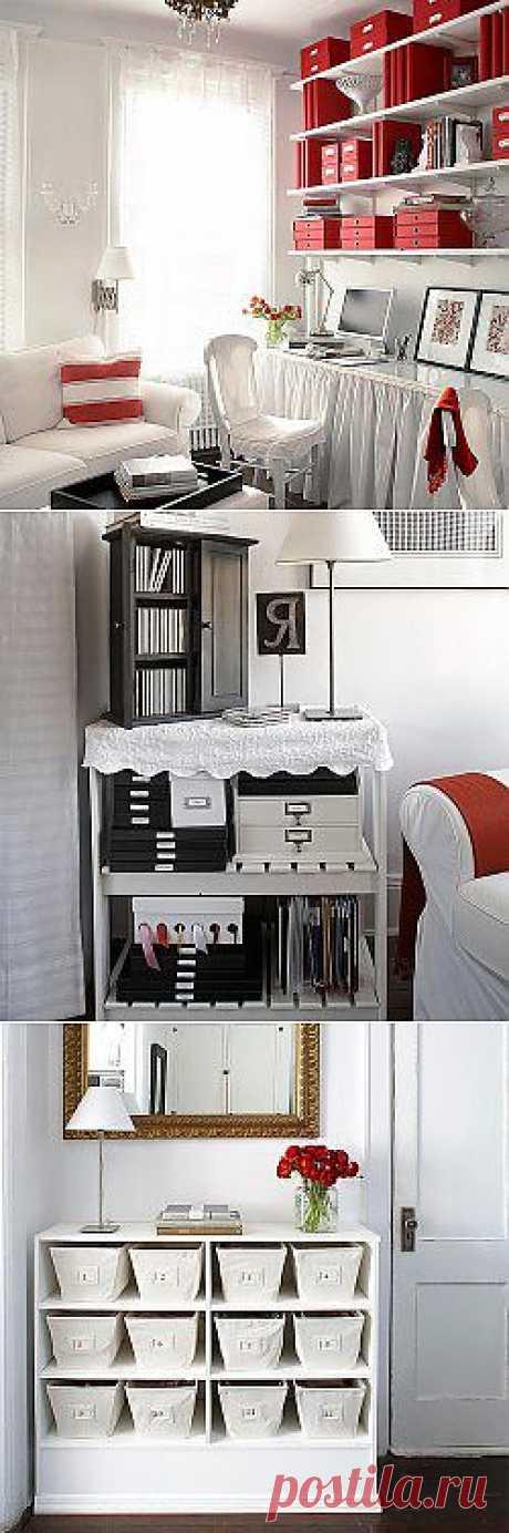 19 идей для маленькой квартиры. Кабинет | Лавочка