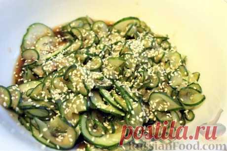 Рецепт: Японский салат из огурцов