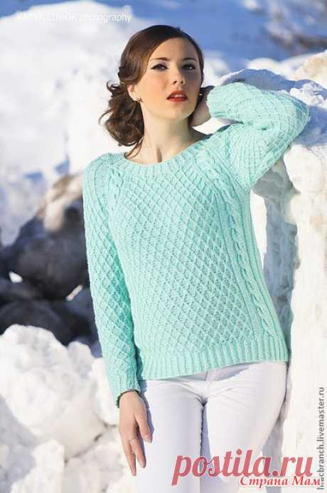 Пуловер регланом сверху - Вяжем вместе он-лайн - Страна Мам