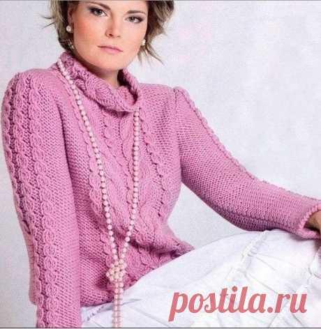 Красивый узор для нежного свитера