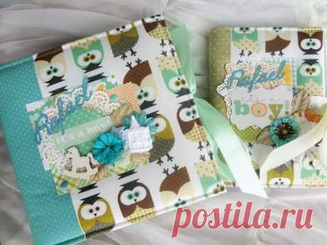 How to make a children's photo album. Part 1. The review - Scrapbooking of master class \/ Aida Handmade