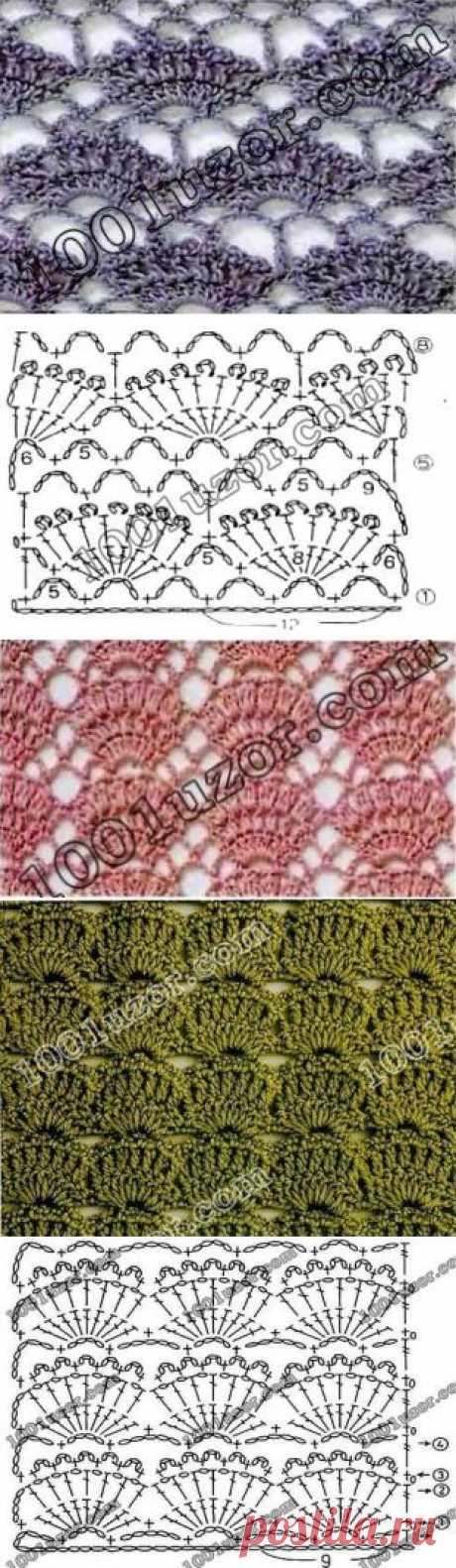 Вязание: подборка красивых узоров крючком   Подружки