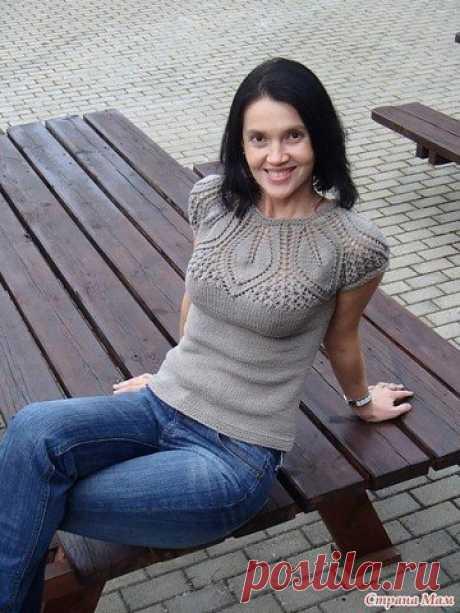 Мир вязанияТоп с ажурной кокеткой