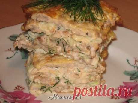 Яично-мясной тортик - вкус шавермы