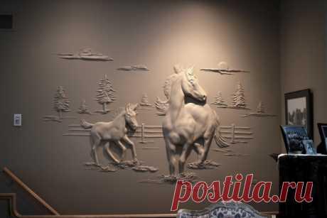 Впечатляющие объемные картины от мастера шпаклевки — Рукоделие