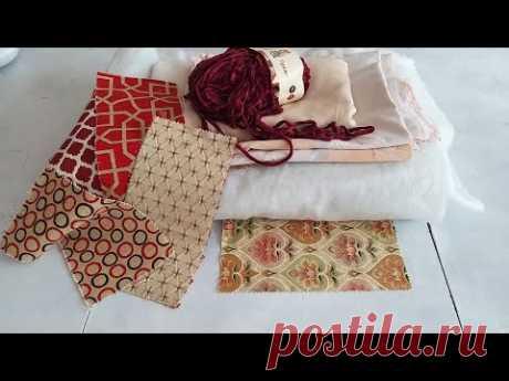 Необычная стежка и дизайн лоскутного одеяла. Лоскутное шитье одеяла, своими руками.