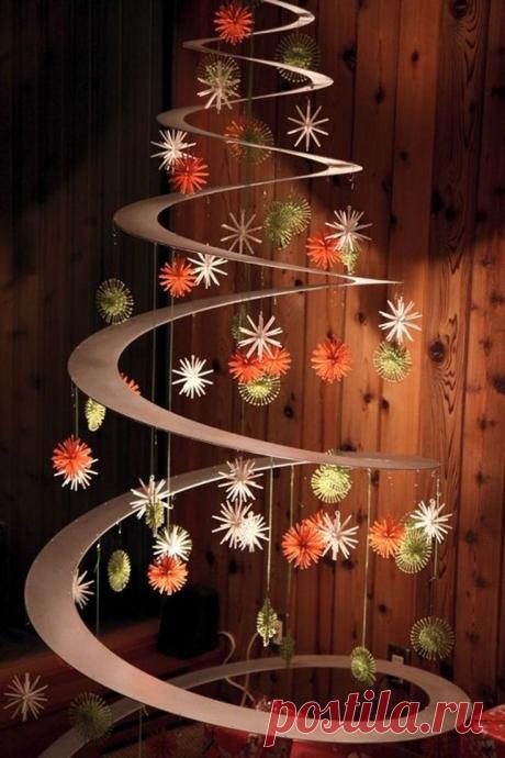 Новогодняя елка из того, что найдете под руками! Примеры и идеи для вдохновения! | Юлия Жданова | Яндекс Дзен