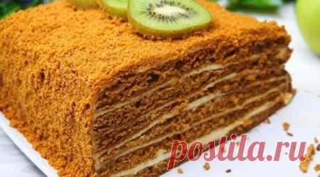 Медовик необычным способом и без раскатки. - Кулинарный Гуру Медовый тортик необычным способом приготовления. Получается безумно вкусный и ароматный. Готовится очень...