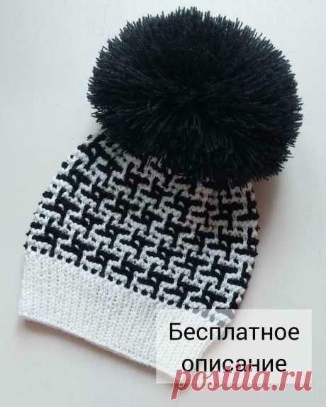 Черно-белое и бело-черное вязание спицами | Марусино рукоделие | Яндекс Дзен