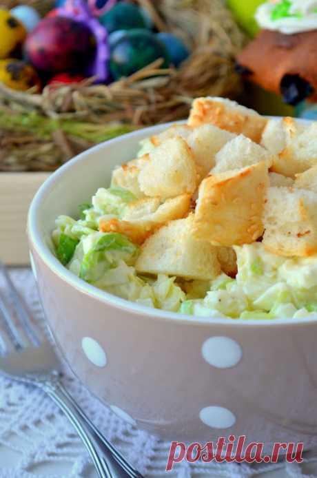 MY FOOD или проверено Лизой: Пасхальный яичный салат с сухариками.