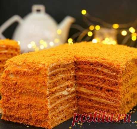 Торт «Карамелька» всего за 30 минут! Быстрый домашний торт без возни с коржами / Видео-рецепты / TVCook: пошаговые рецепты с фото