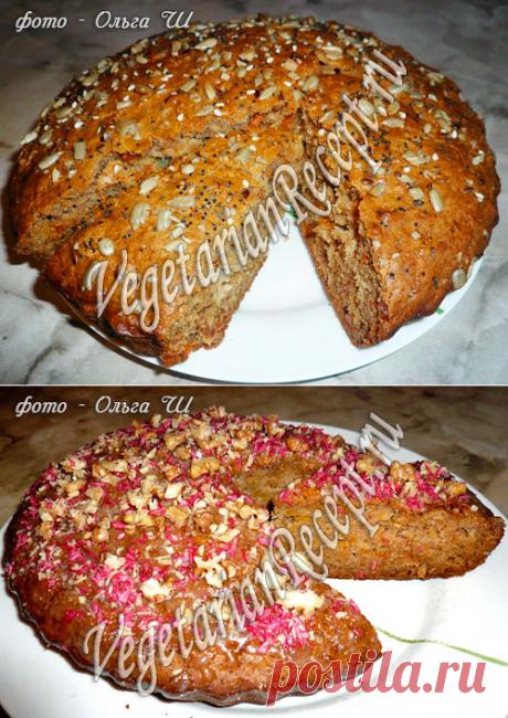 Морковный пирог и Тыквенный пирог без яиц, рецепт с фото