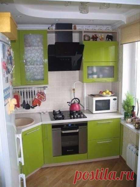 Удачное решение для маленькой кухни! Несколько идей ниже!