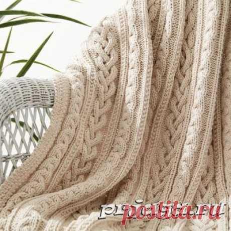 Плед и одеяло крючком или спицами