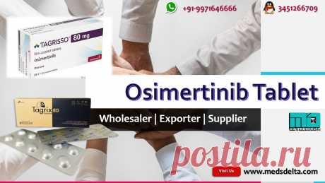Osimertinib Tablet including Tagrix, Tagrisso available at MedsDelta trusted supplier and distributor at wholesale price. Call/WhatsApp: +91–9971646666, QQ: 3451266709 for order online Indian Osimertinib AZD9291 Tablet Generic Tagrisso. Tagrisso manufactured by AstraZeneca and Tagrix made by Beacon available with us at lower cost. At MedsDelta we aims at delivering you Generic or branded Osimertinib Tablet to countries including Austria, Bahrain, Bangladesh, Belgium, Bhutan, Canada, Denmark