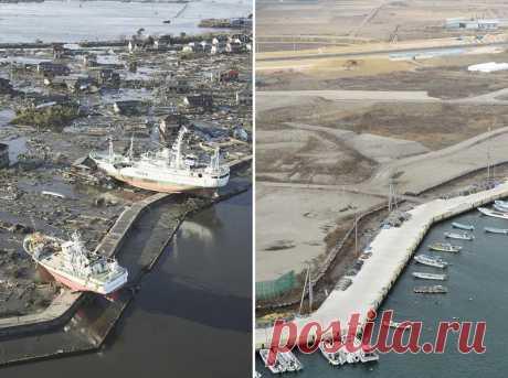 Antes y después: las forografías asombrosas, las consecuencias del terremoto y el tsunami en Japón en 2011 | el Diablo toma