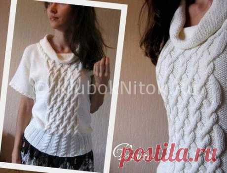 Пуловер с воротником «хомут»