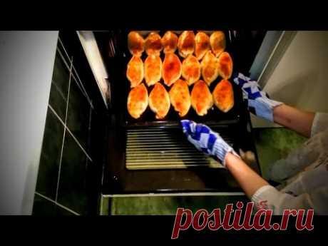 Пирожки в духовке рецепт с рыбой Что как приготовить обед в домашних условиях быстро вкусно видео - YouTube