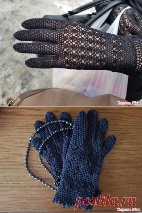 Перчатки графитовые (крючок) - Вязание - Страна Мам
