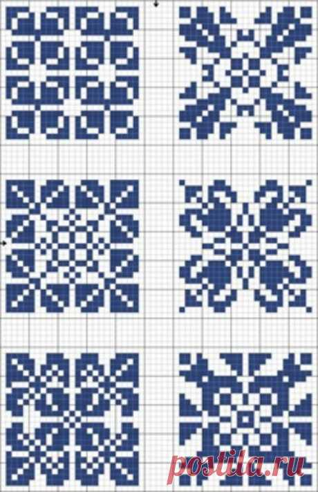 Монохромная вышивка для начинающих. Схемы / Вышивание крестиком - схемы вышивки для начинающих, картинки / КлуКлу. Рукоделие - бисероплетение, квиллинг, вышивка крестом, вязание