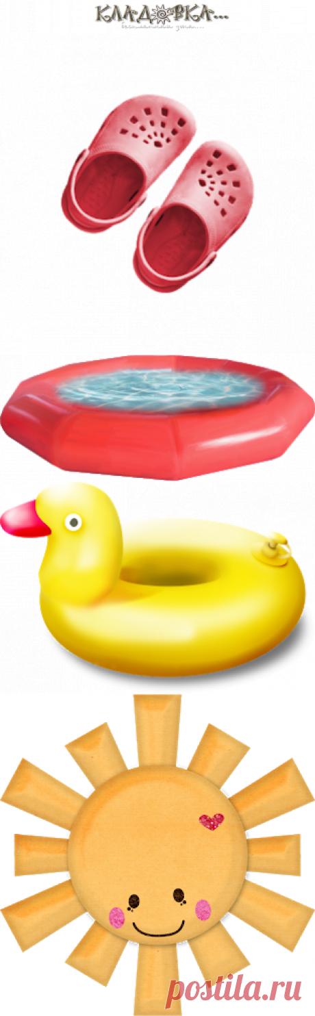 Кладовка...: Summer at the Swimming Pool - лето в бассеине распакованный скрап набор для фотошопа png