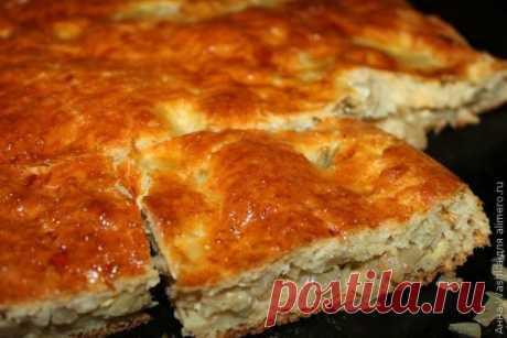 Пирог с капустой и яйцом.