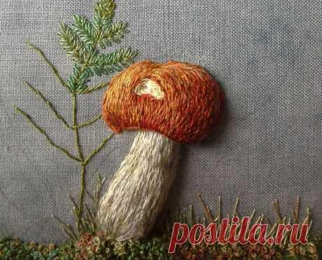 Объемная вышивка грибов: невероятные идеи — Сделай сам, идеи для творчества - DIY Ideas