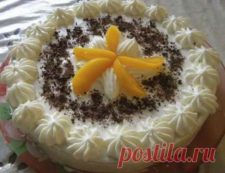 Сметанный торт с ванильным кремом рецепт с фото пошагово - 1000.menu