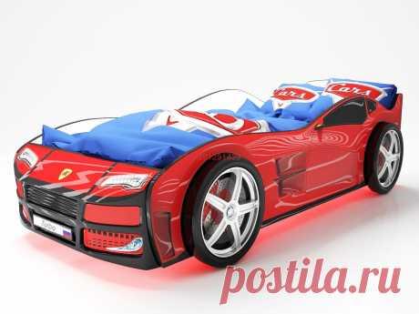 Кровать-машинка Турбо Красная: купить в Минске недорого, низкие цены, скидки, рассрочка