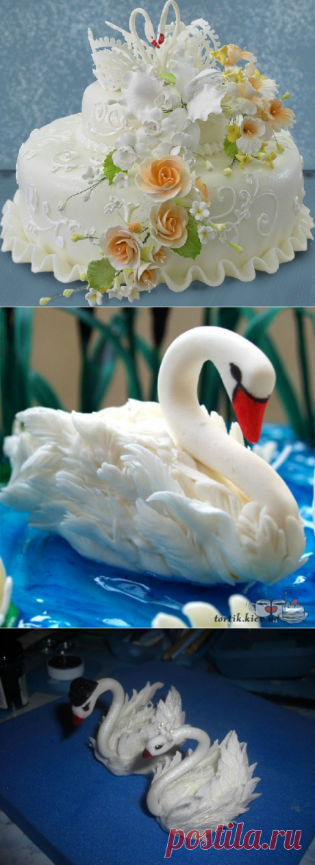 Лебедь из мастики. Мастер-классы + видео | Домохозяйка