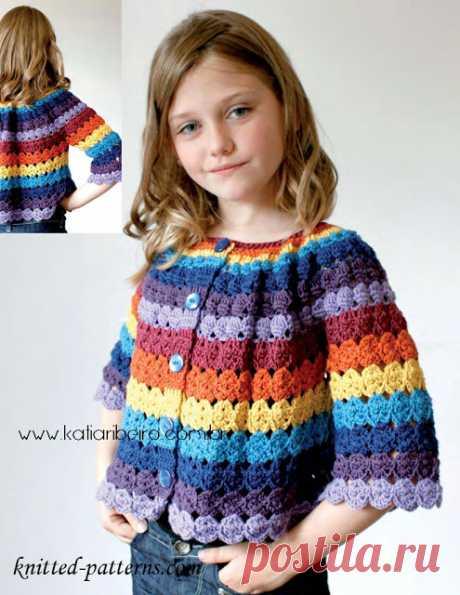 c7c028814 Blusa infantil em crochê com gráfico - Katia Ribeiro Moda e Decoração  Handmade